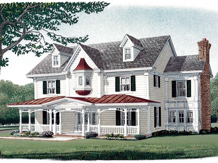 Country Victorian House 054h 0081 Victorian House Plans Farm Style House Monster House Plans