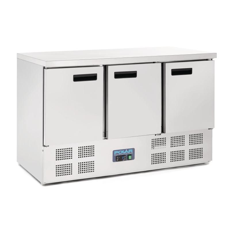Polar 3 Door Counter Fridge 363Ltr Stainless Steel $1,649.90 | Sun ...