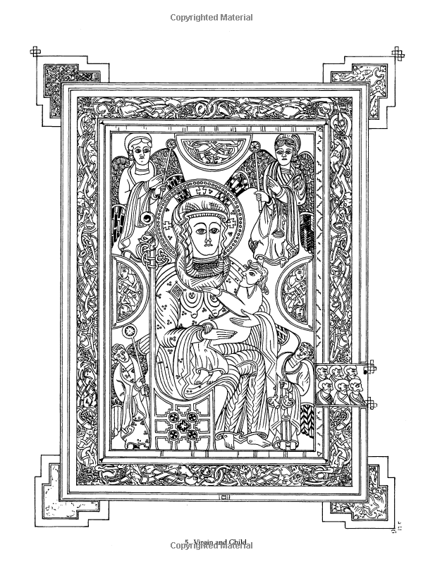 Color Your Own Book of Kells (Dover Art Coloring Book): Marty Noble ...