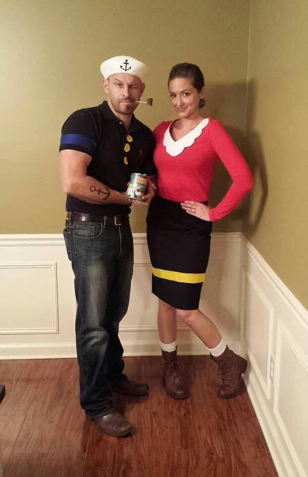 Easy diy couples costume popeye olive oyl couplescostume easy diy couples costume popeye olive oyl couplescostume halloween diy solutioingenieria Image collections
