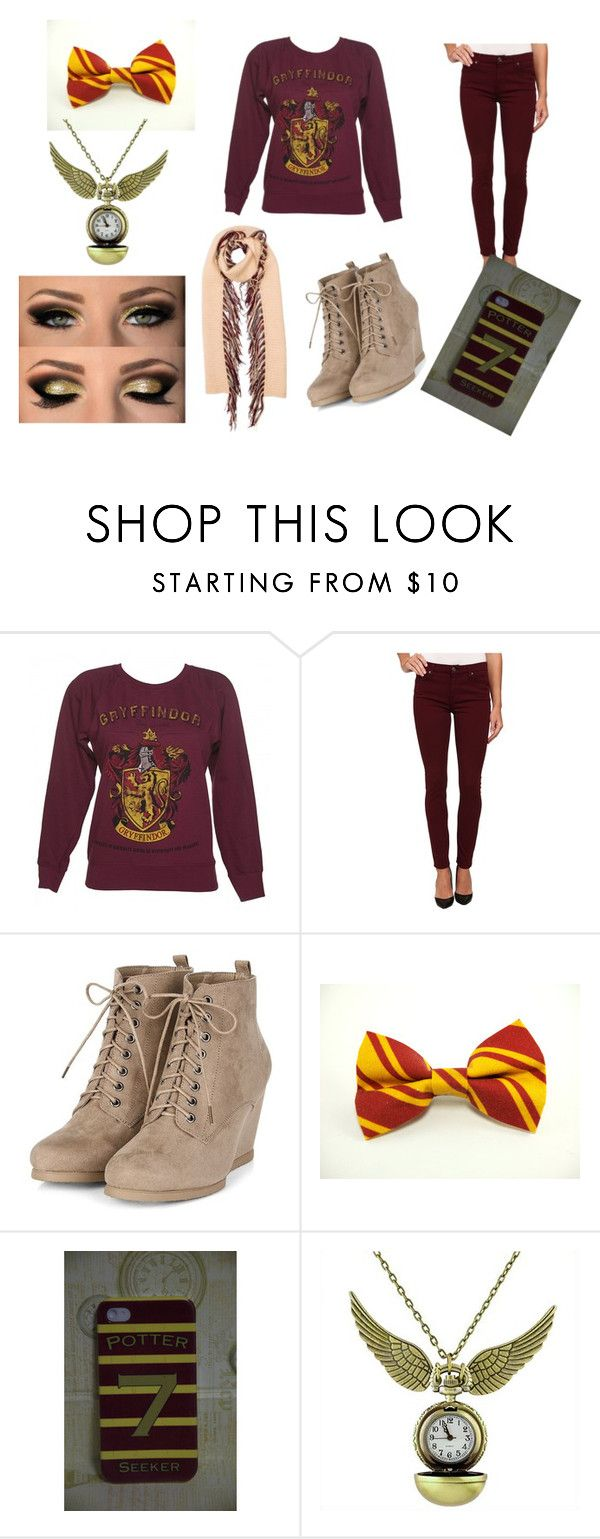 """""""Gryffindor-Harry Potter"""" by silentdeath2000 ❤ liked on Polyvore featuring 7 For All Mankind, Burberry, Winter, harrypotter and winter2015"""