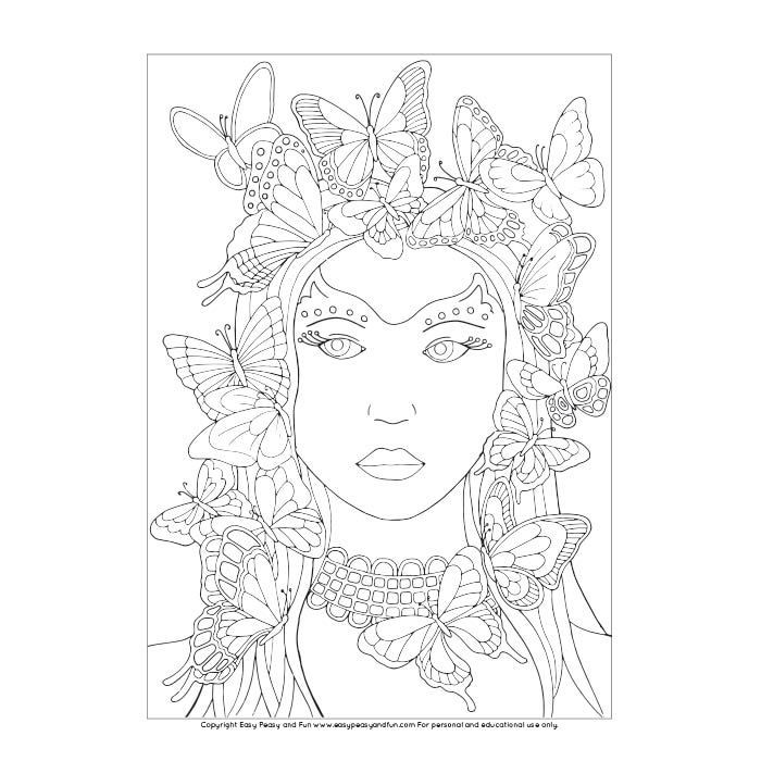 Butterfly Lady Coloring Page Butterfly Coloring Page Coloring