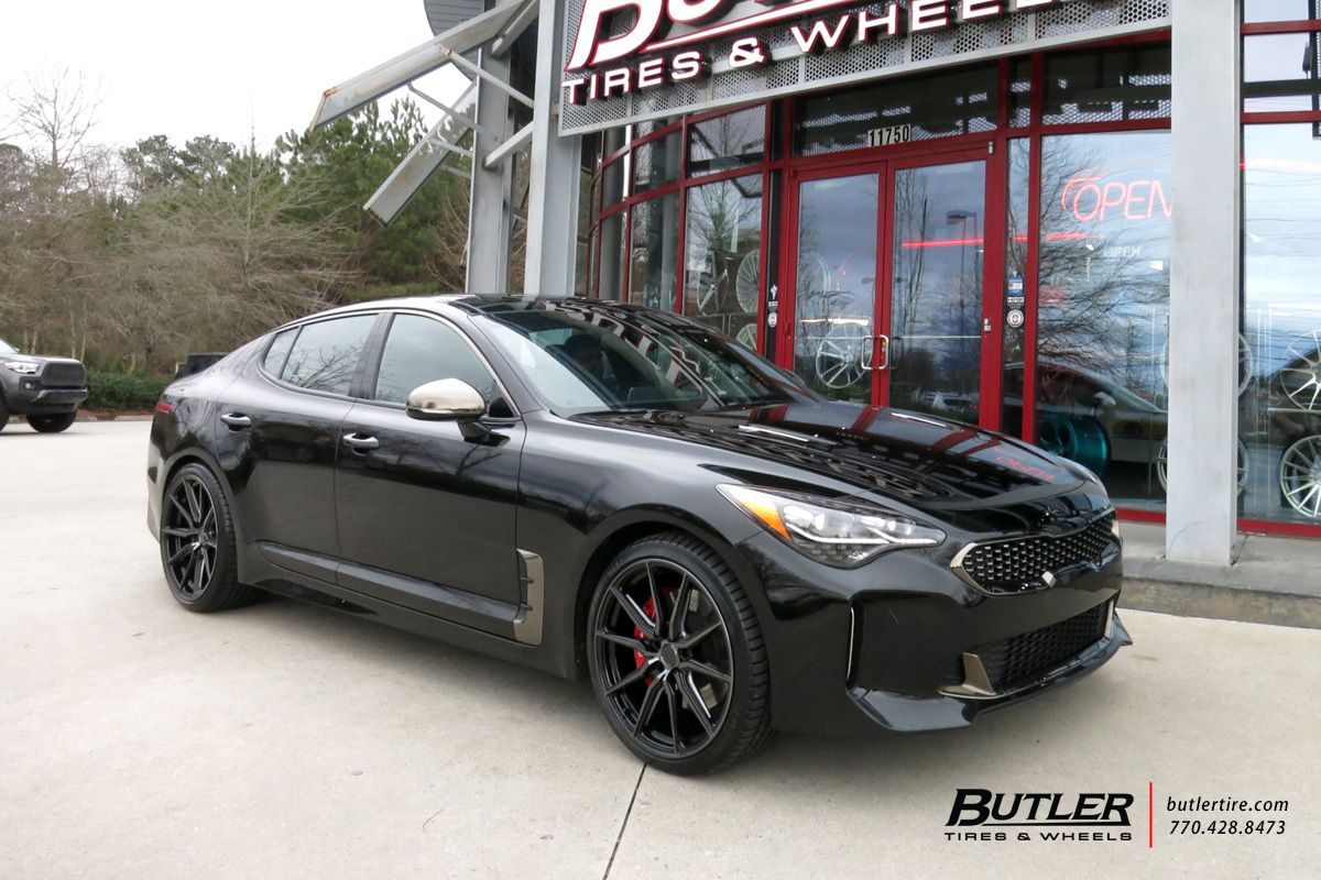 Kia Stinger With 20in Vossen Hf 3 Wheels Kia Stinger Kia