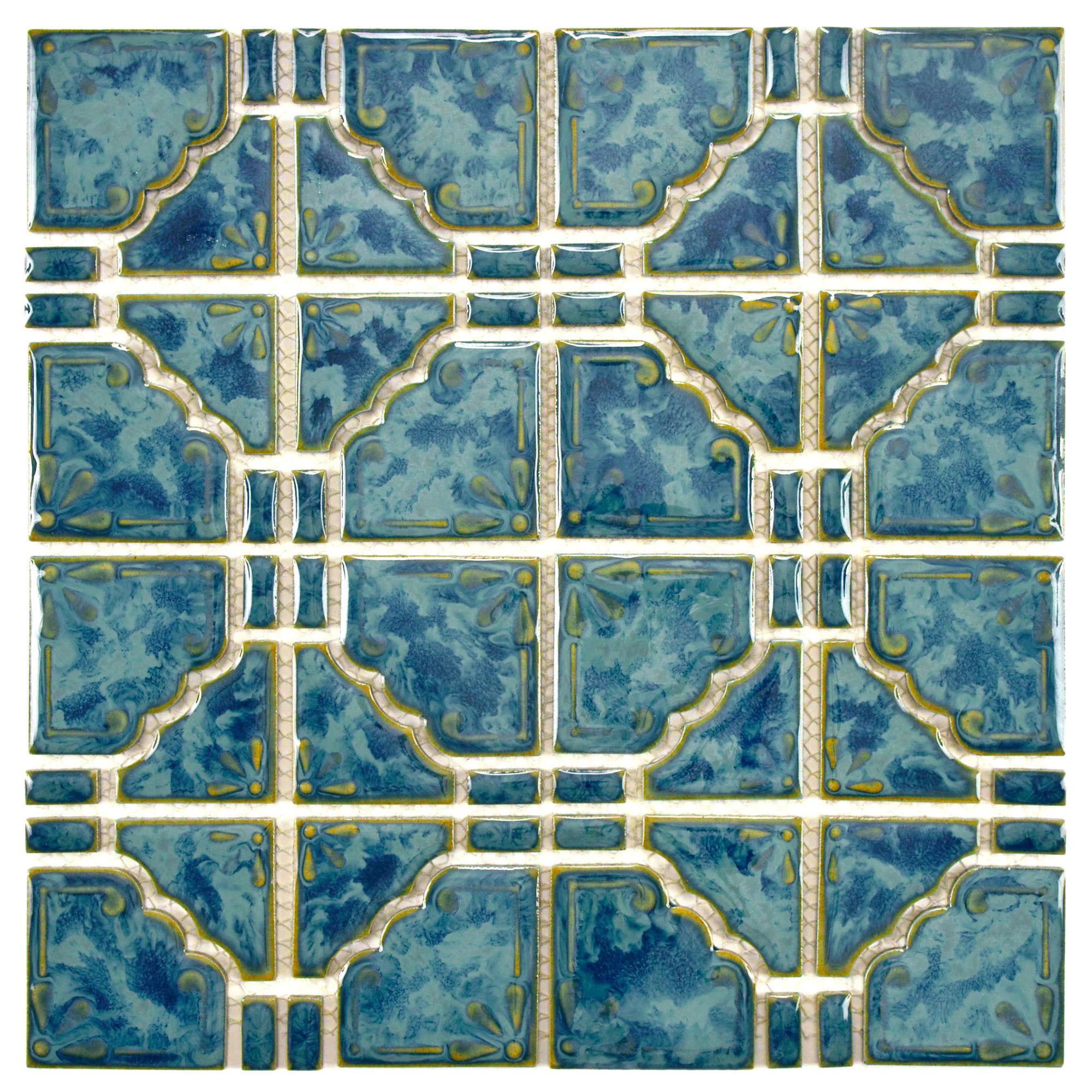 Moonlight 3 X 3 Porcelain Grid Mosaic Wall Floor Tile Porcelain Mosaic Porcelain Mosaic Tile Mosaic Flooring