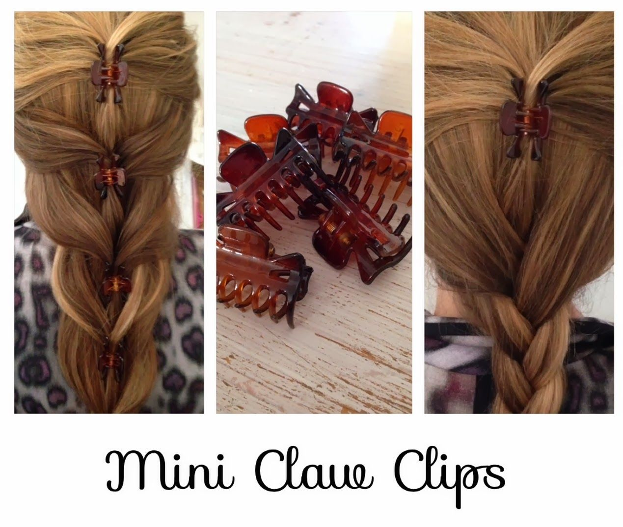 Some Ideas For Mini Jaw Clips Most People Have A Few Of These Lying Around Clip Hairstyles Hair Styles Long Hair Styles