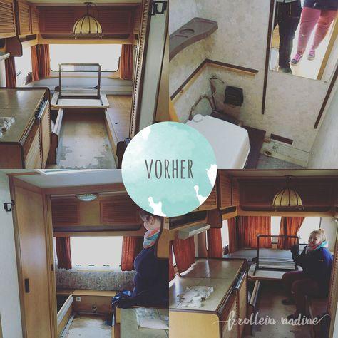 caravanmakeover vorher bild camper pinterest wohnwagen zelten und camper. Black Bedroom Furniture Sets. Home Design Ideas