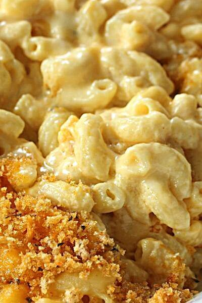 This creamy and delicious baked mac and cheese is the perfect comfort food side dish for any meal. S...
