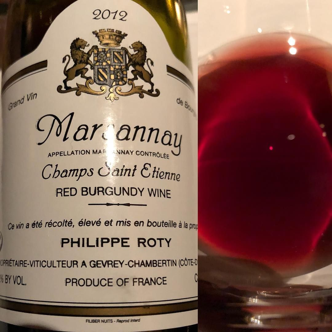 2012 Philippe Roty Marsannay Champs Saint Etienne 87 Pts Winereview Pale Ruby Color Medium Intensity On The Nose Aromas Of Red Currant Ripe Cranberry