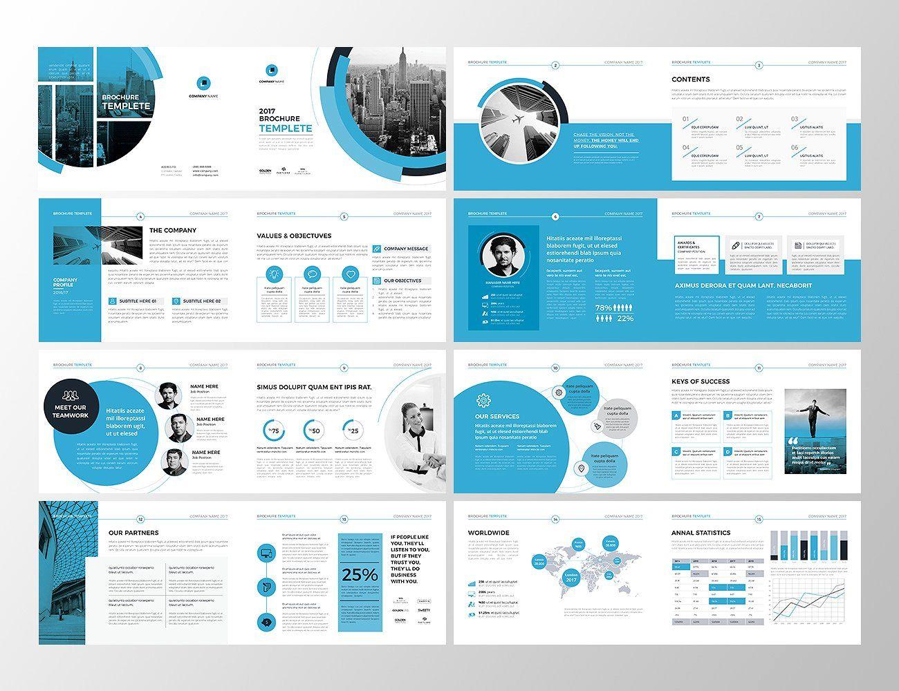 A5 Landscape Co Brochure Brochure Brochure Design Template Brochure Layout