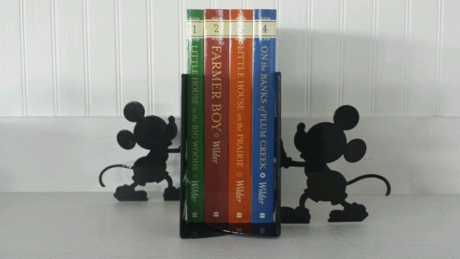 Disney Office Decor Vtg MICKEY MOUSE Pencil Pen Holder Desk Figure U0026  Bookends In Collectibles |