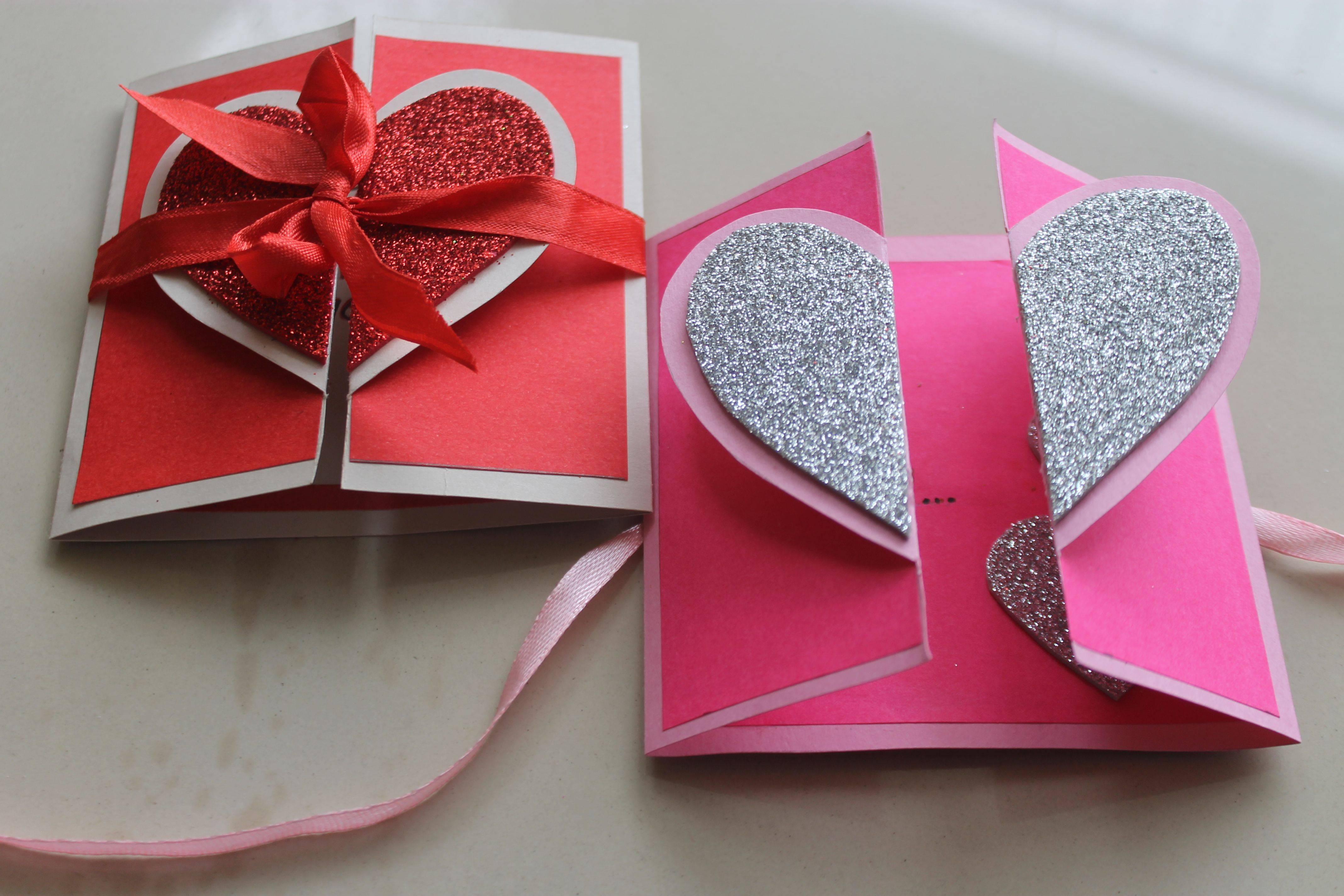 How To Make Handmade Valentine Heart Card Diy Cards Making Ideas In This Vid Greeting Cards Handmade Birthday Easy Greeting Cards Simple Birthday Cards