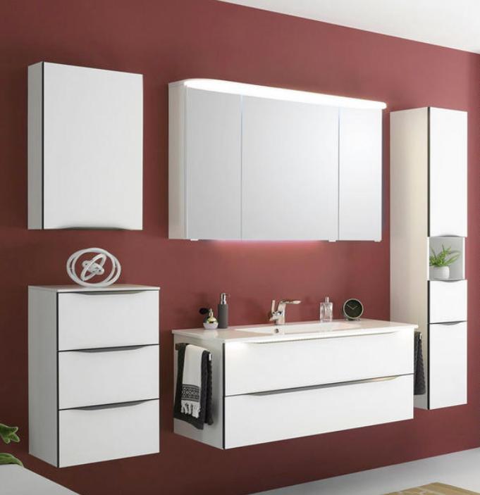 Seitenschrank Furs Badezimmer In Weiss Hier Kaufen Badezimmer Badezimmereinrichtung Badezimmer Set