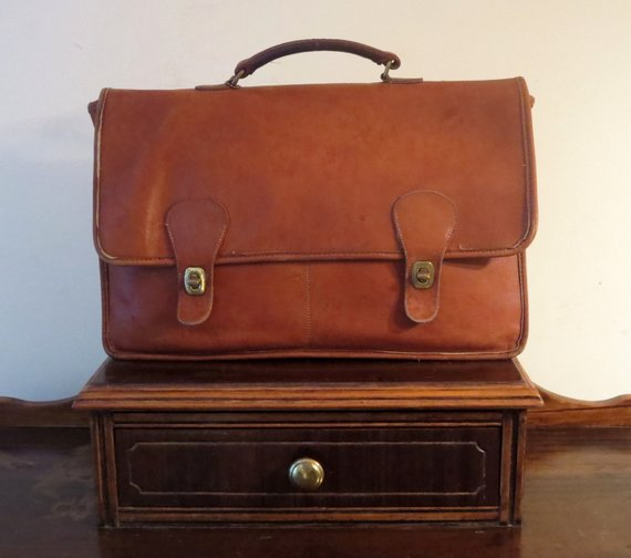 5df06071cd172 Coach Diplomat British Tan Double Gusseted Briefcase Attache Laptop ...