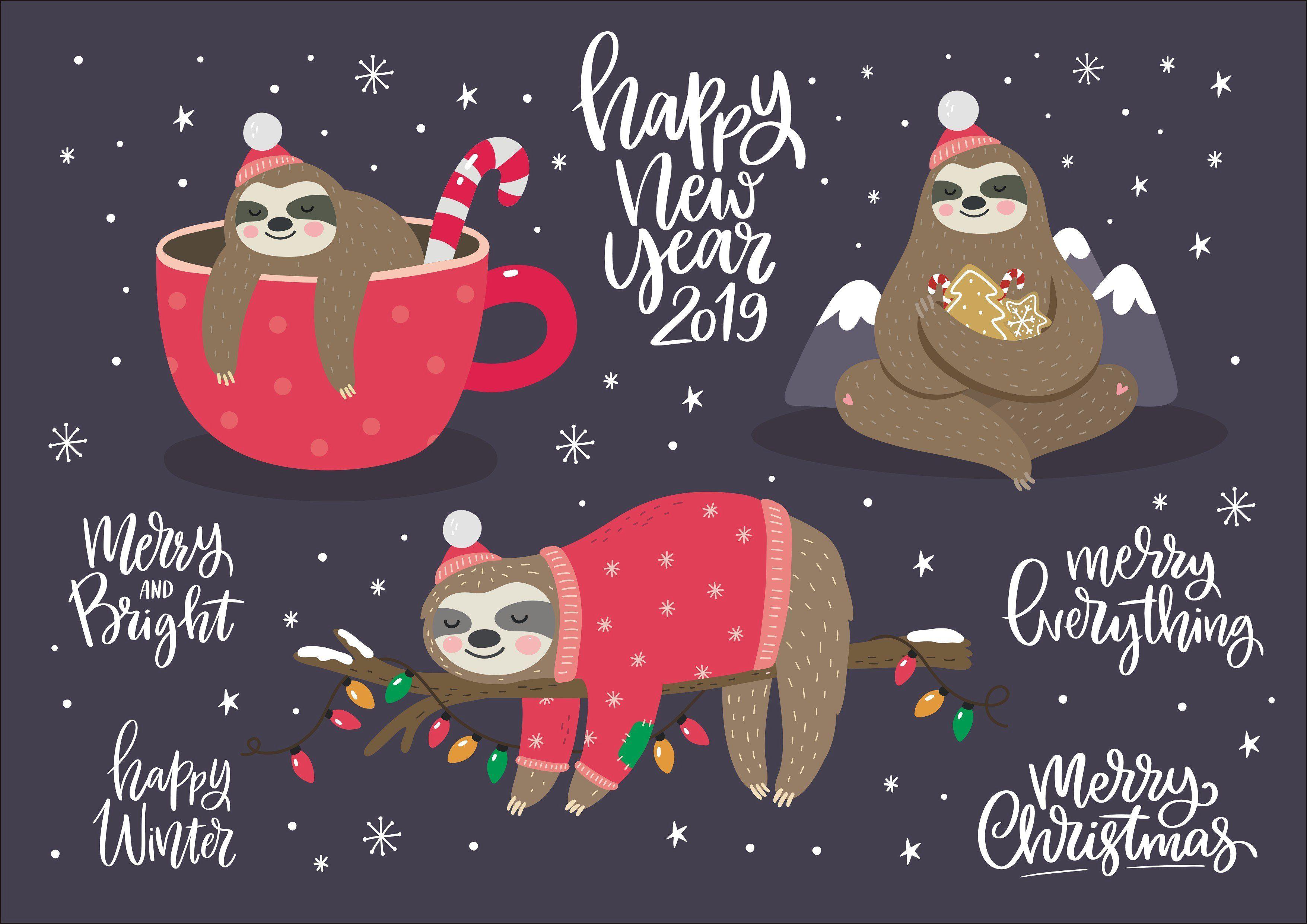 Alpaca And Sloth Christmas Sloth Christmas Sloth Sloth Sloth Drawing