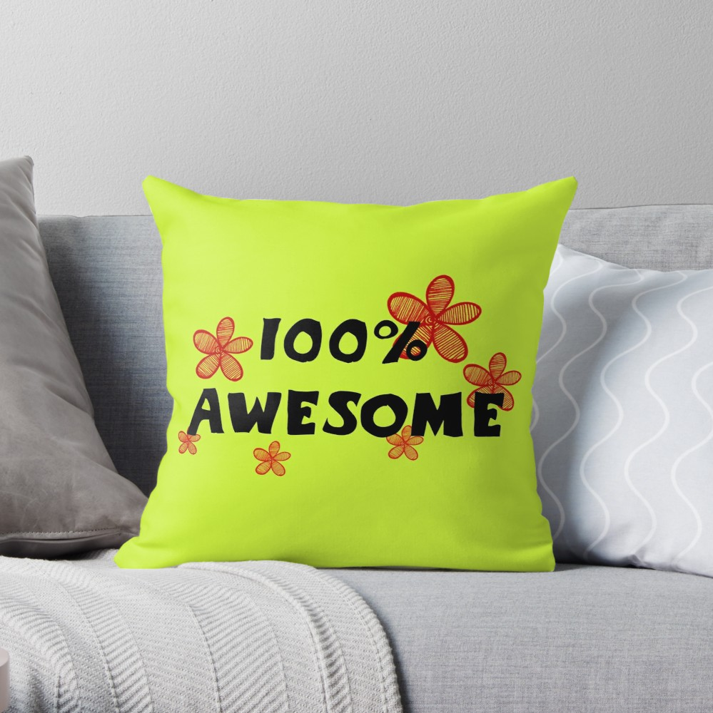 100 Awesome Text And Red Flowers Throw Pillow By Ivyartistic Flower Throw Pillows Throw Pillows Designer Throw Pillows