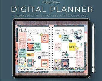 Digital Planner iPad Goodnotes Digital Planner Tablet | Etsy