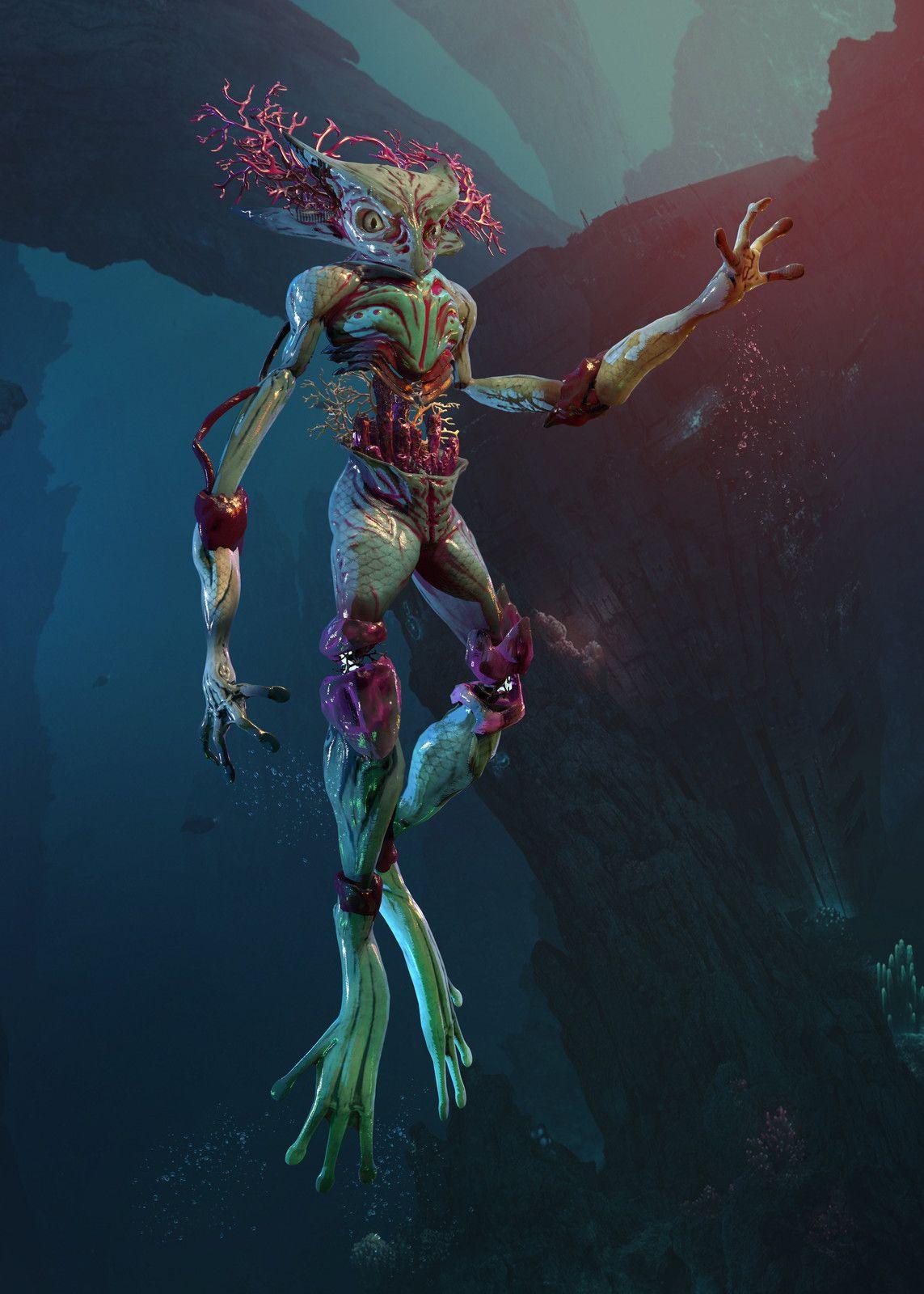 Elemental Character Water , Daniels Voitovs Artwork