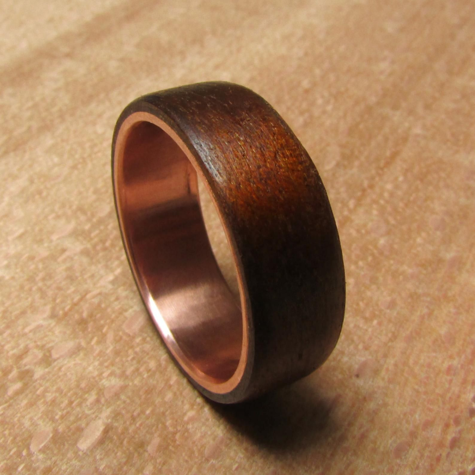 Fumed Aspen Wood And Copper Ring Rustic Mens Wedding Band 5th Anniversary Gift For Him Wooden Wedding Rings For Men Birthday Gift Ideas Wooden Wedding Ring Wooden Wedding Bands Mens Rustic