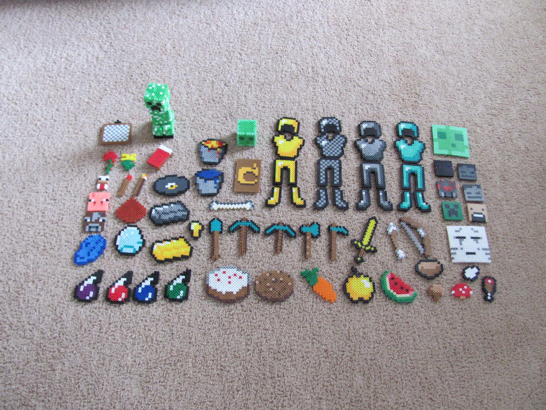 Perler 3d Minecraft Bed Plantillas Hama Beads Hama De Minecraft
