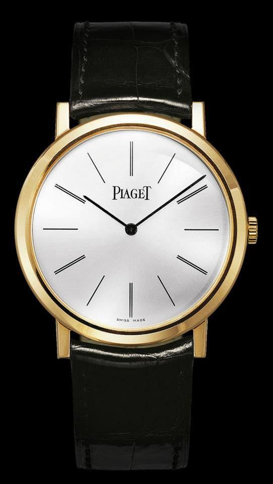 The Piaget Altiplano watch features 18k pink gold and Piaget 430P ultra-thin movement, a descendant of the legendary 9P movement. Dad will love this classic design.