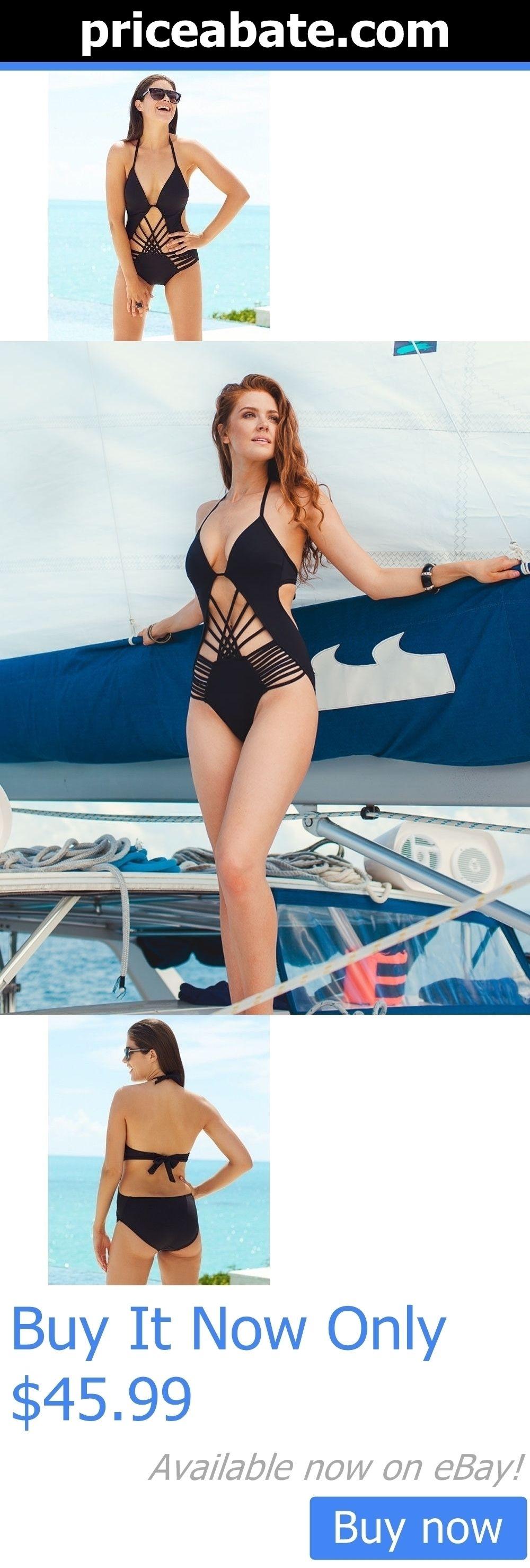 b5099835b75ee Women Swimwear: Nwt! Kenneth Cole Black Macrame Push Up One Piece Monokini  Swimsuit Medium New! BUY IT NOW ONLY: $45.99 #priceabateWomenSwimwear OR #  ...