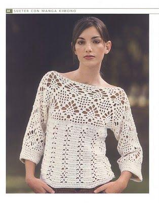 crochet top - with diagrams