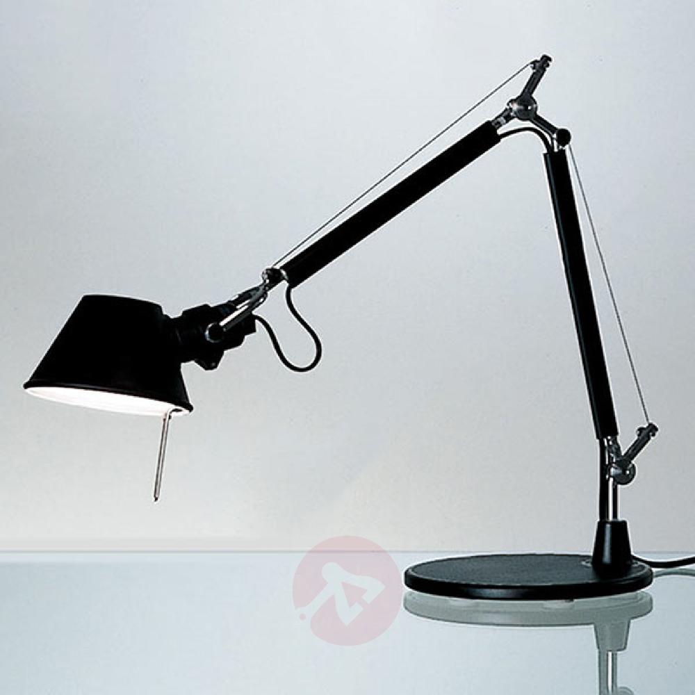 Artemide Tolomeo Micro Bordlampe Svart Lamper Skrivebordslampe Lampeskjerm
