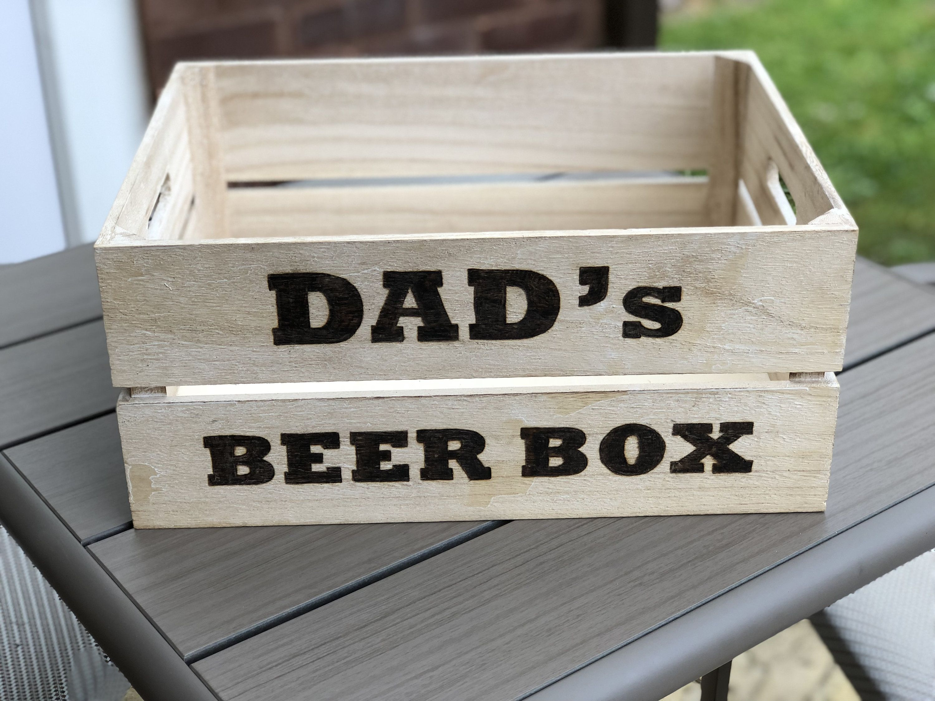 Dads Beer Box - Daddys Wooden Crate - Fathers Day