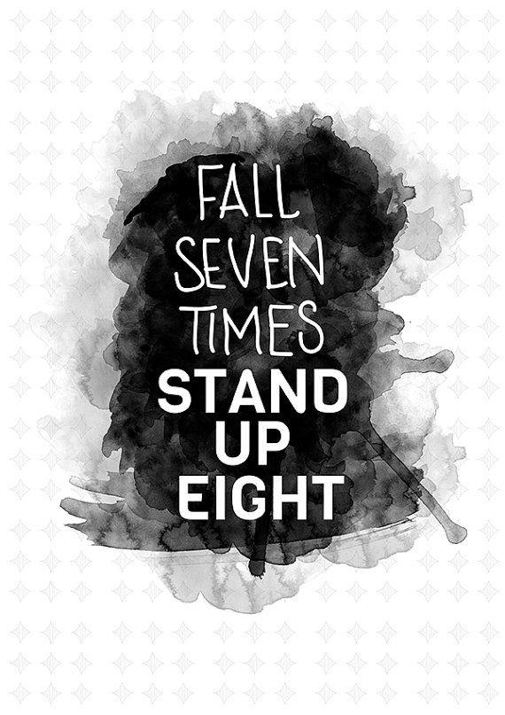Bilderesultat for fall seven times stand up eight