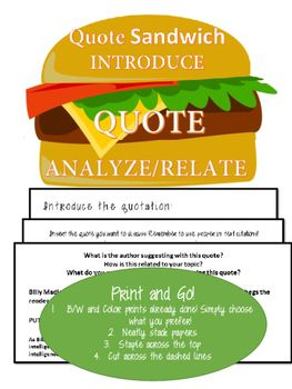 Mla Quote Free Foldable Notes For Using Quotes In A #researchpaper In #mla .