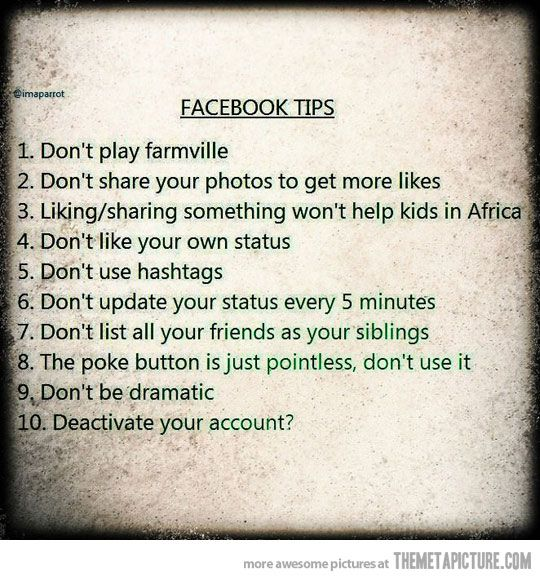 Some people need to follow these instructions ASAP! Lol
