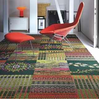 Fun With Mismatched Carpet Tiles Contemporary Carpet Carpet