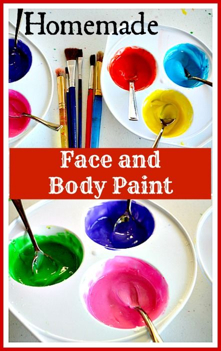 Homemade Easy Face Paint Recipe Face Painting Homemade Face Paints