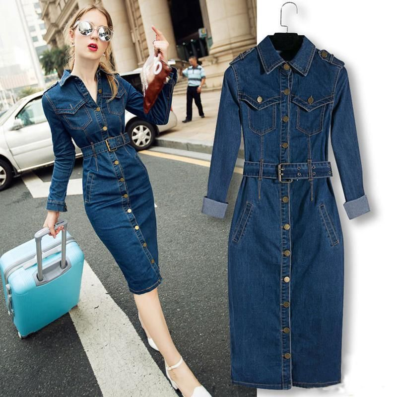 Big Size Blue Jeans Dresses One-piece   Price   35.99   FREE Shipping      hashtag4 3f691517c5d9
