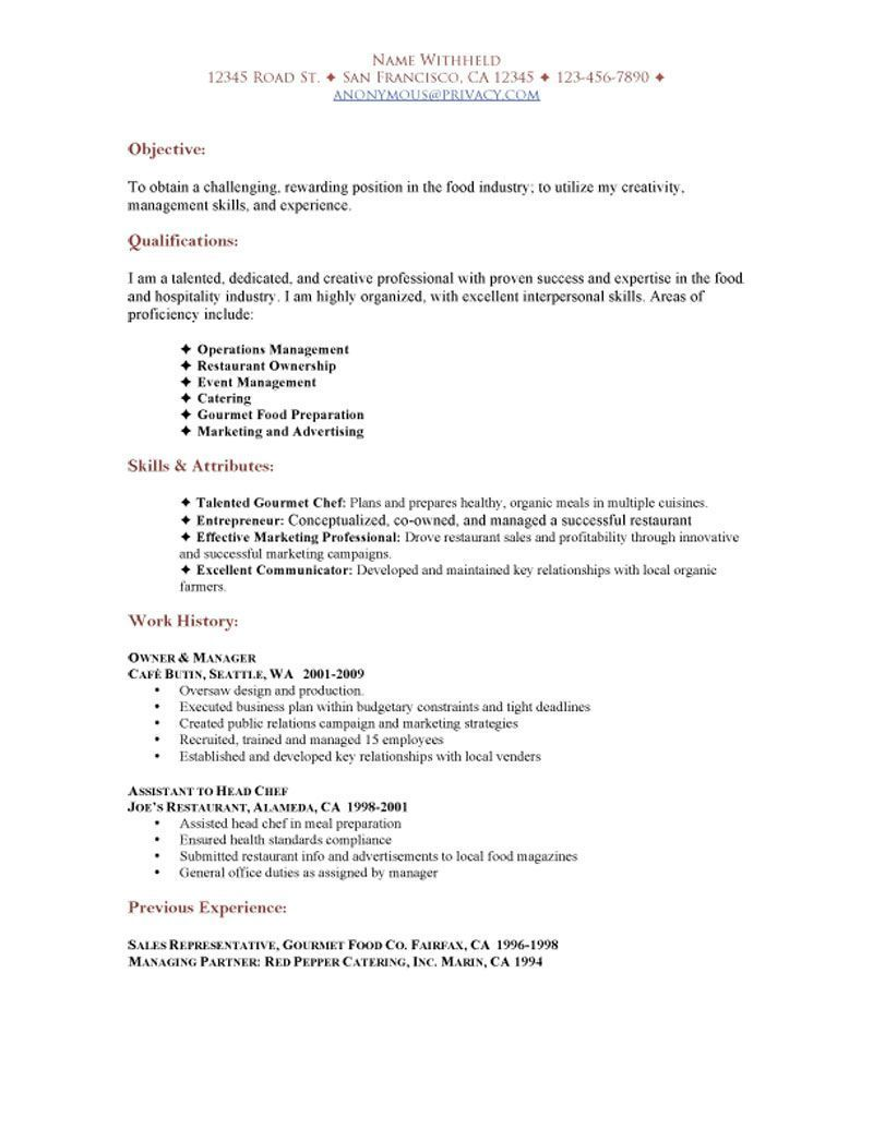 Functional Resume For Hospitality - Manual Guide Example 2018 •