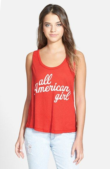 98b69573609 Women s Wildfox  All American Roadtrip  Tank-Red of July Tank-