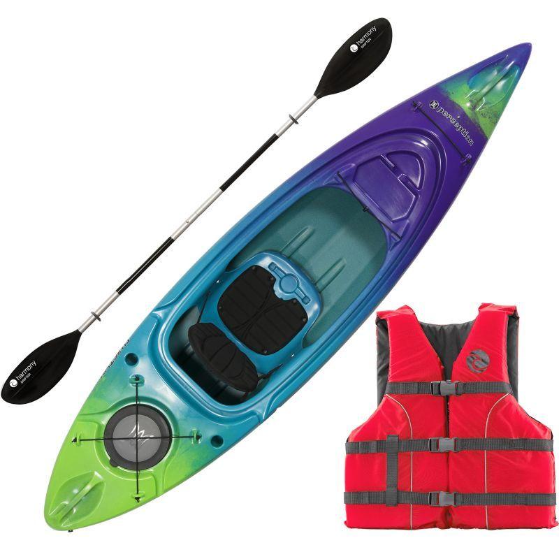 Perception Swifty Deluxe 95 Kayak Package, Purple