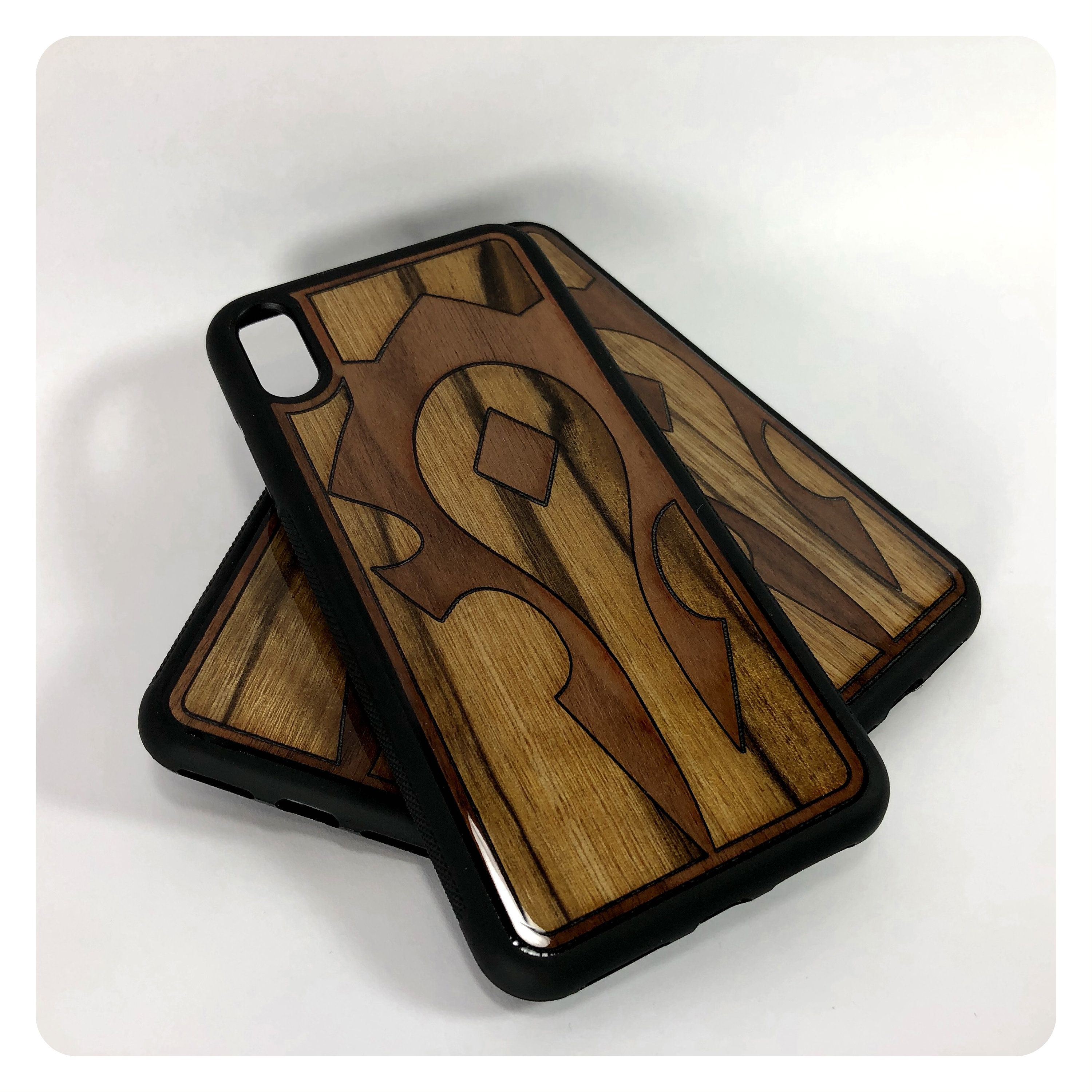 For the horde wood inlay iphone cover rubber case with