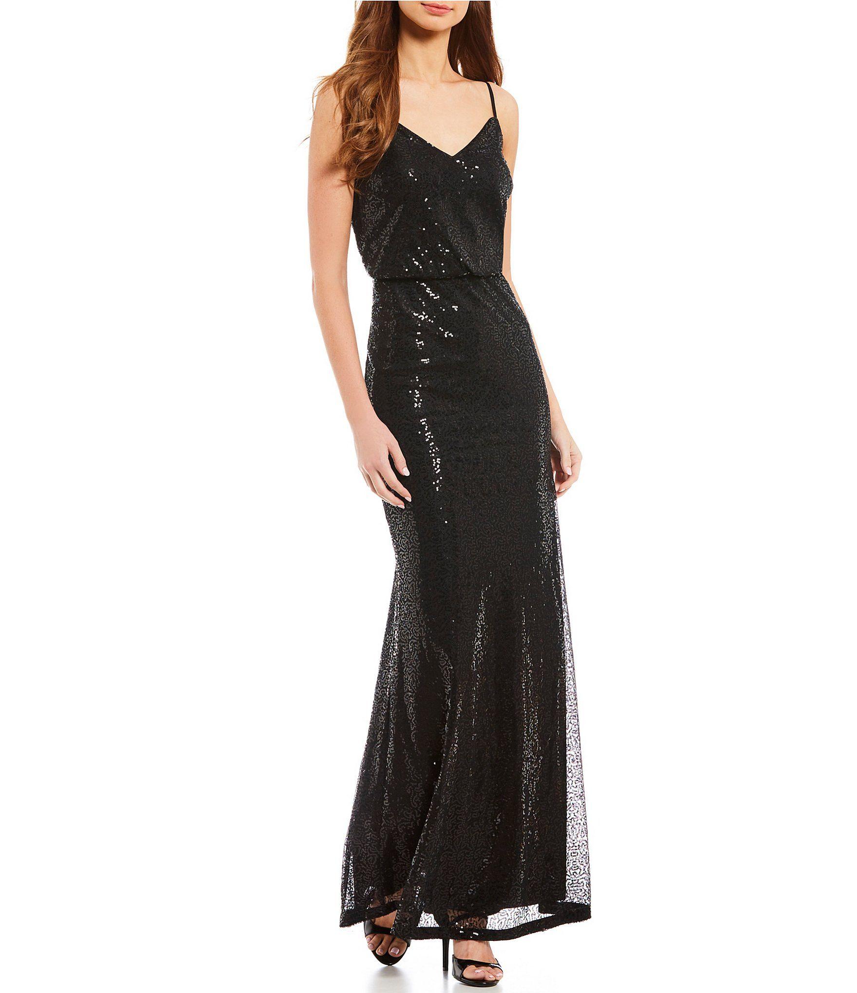Shop for calvin klein sequin blouson gown at dillards visit