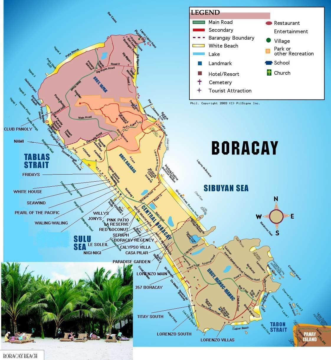 Boracay Beach: Map Of Boracay Island Resorts