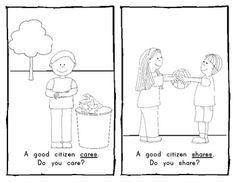 Being A Good Citizen Worksheet Sketch Coloring Page Social Studies Good Citizen Preschool Social Studies