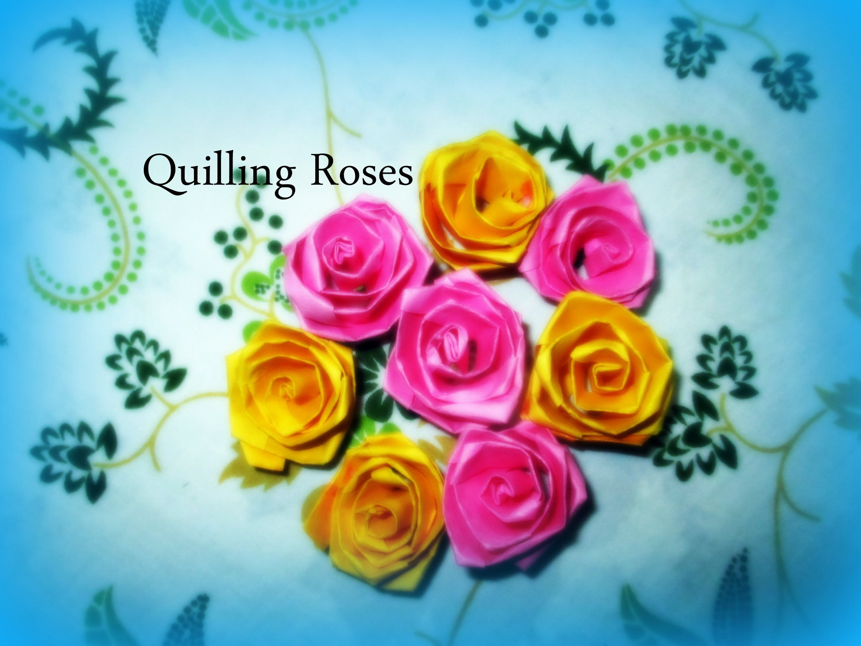 Diy Paper Crafts How To Make Colorful Quilling Paper Rose Flowers