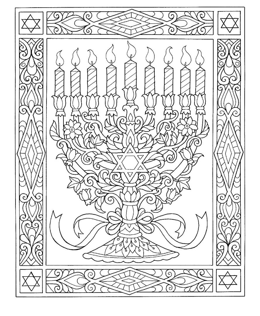 Hanukkah Menorah Coloring Page Coloring Pages Jewish Crafts