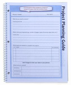 New A Project Planning Guide To Help Plan Long Terms Papers And