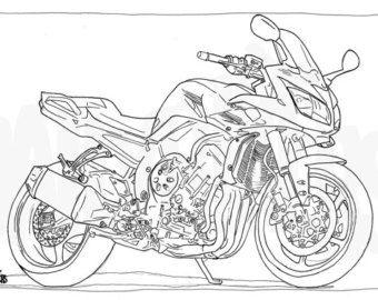Coloriage harley davidson pinterest moto voiture et illustration - Coloriage de moto ...