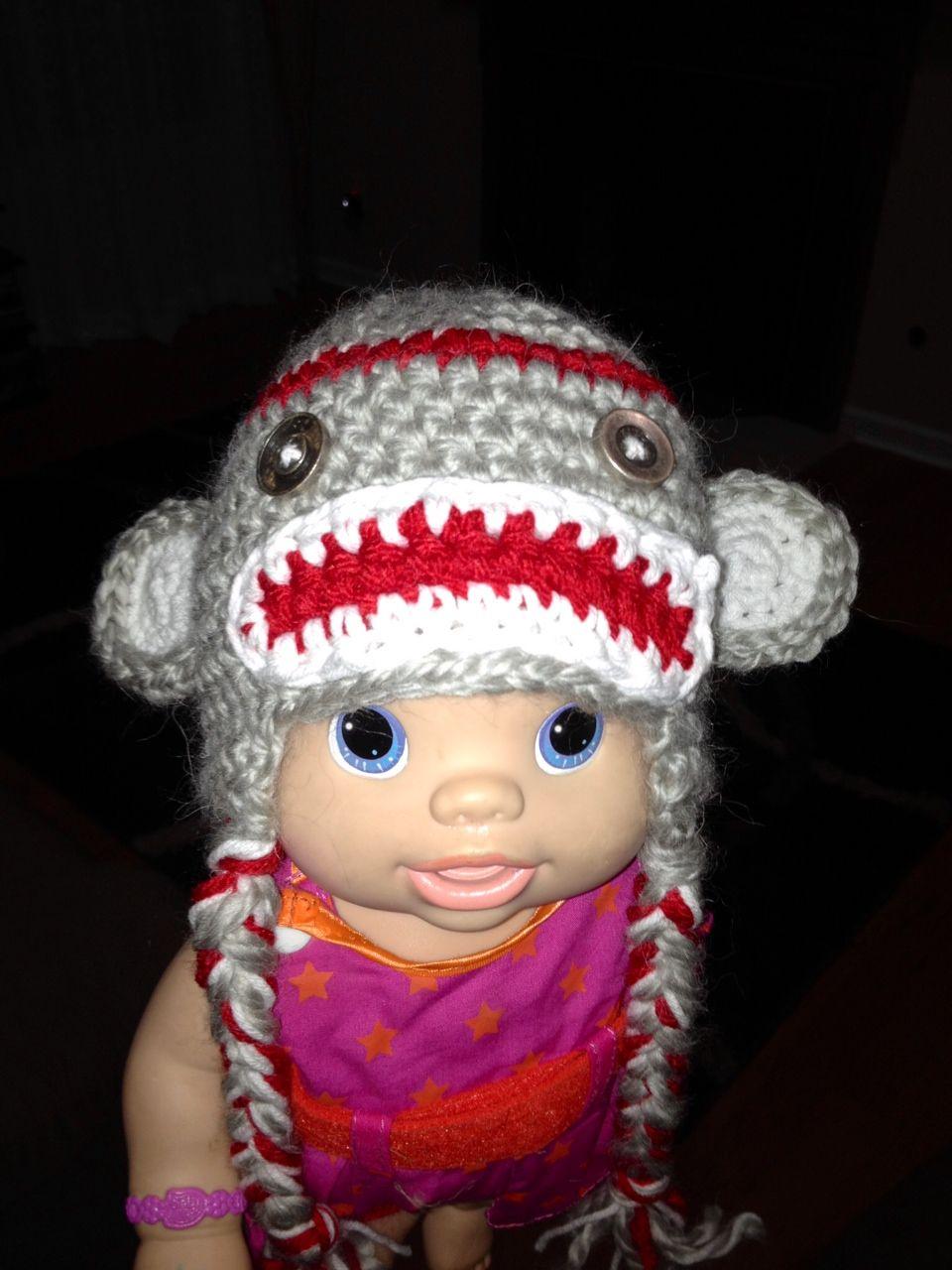 Sock Monkey Hat - Thanks to Sophia for the model