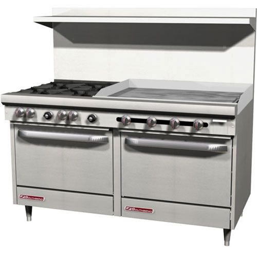 Southbend S60dd 3gr 4 Burner Range 36 Manual Griddle Double Standard Oven