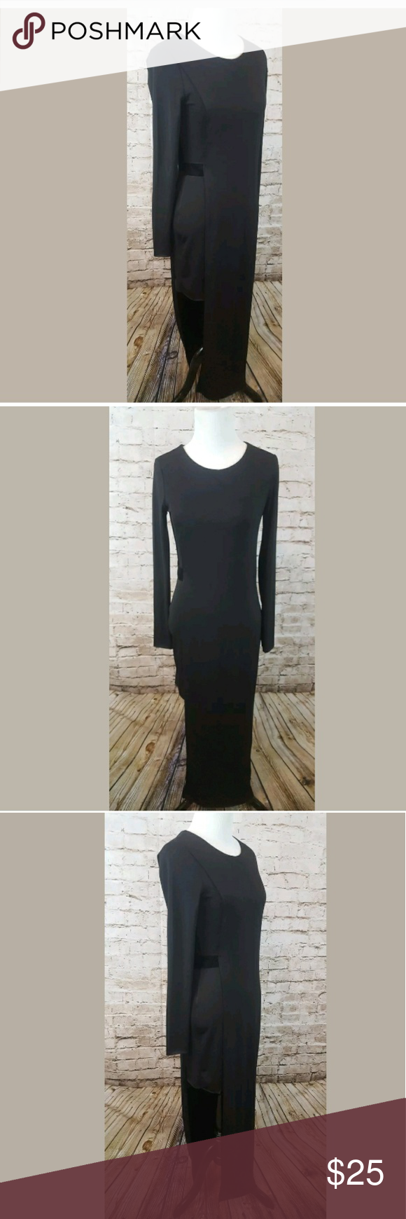 Zara black evening dress nwot size small zara black black evening