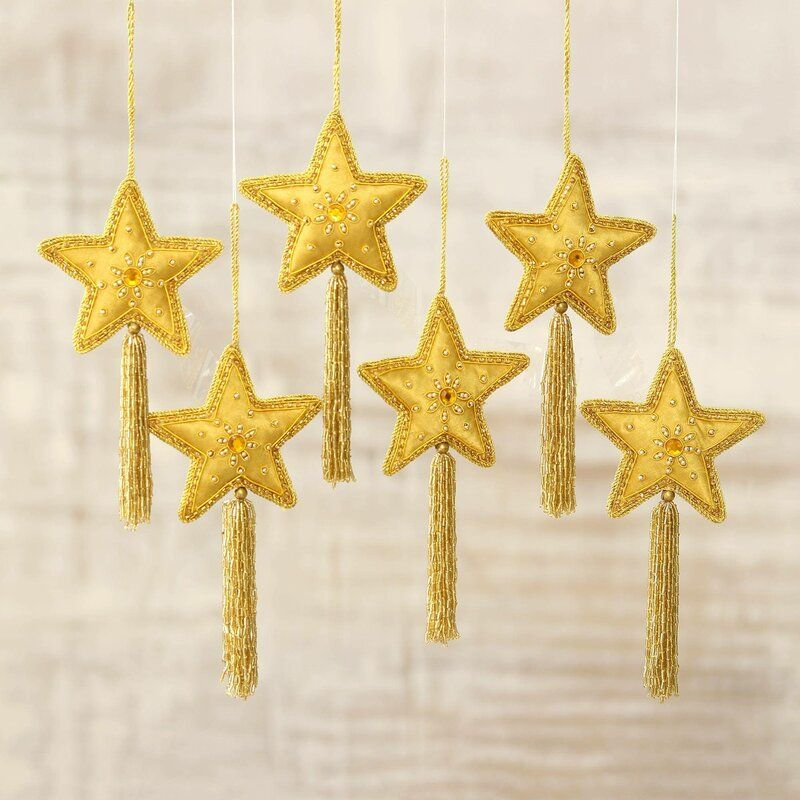 Embellished Star Holiday Shaped Ornament Star Ornament Holiday Shapes Ornament Set