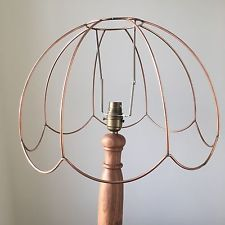 Copper wire lampshade frame vintage industrial light pendant copper wire lampshade frame vintage industrial light pendant greentooth Choice Image